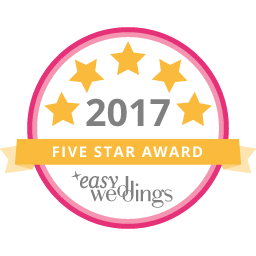 Easy Weddings 5 stars award - Williams Florist